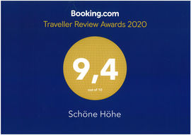 Traveller Review Awards 2020 - booking.com